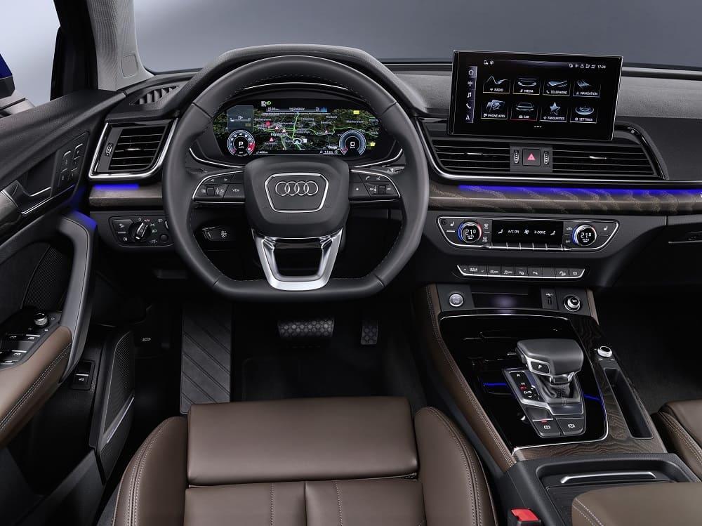 интерьер Audi Q5 Sportback 45 TFSI quattro S line