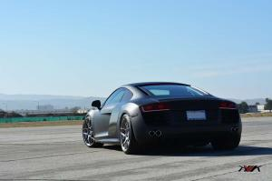 2014 Audi R8 Matte Black on HRE P40SC Wheels