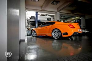 2014 Bentley Continental GT Lowered Black Bison by Wald on DPE Wheels