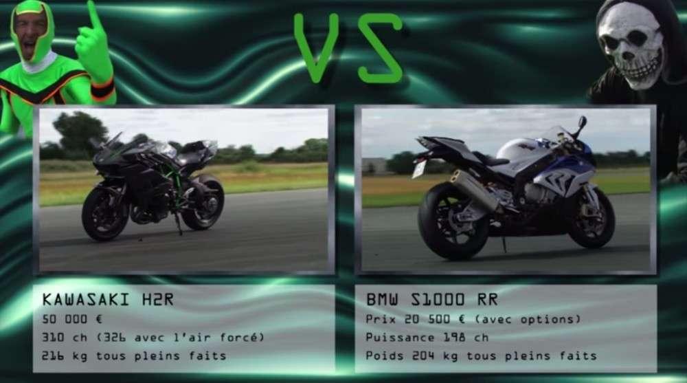 Kawasaki Ninja H2r против байков Bmw S1000rr Ktm 1290 Super Duke R