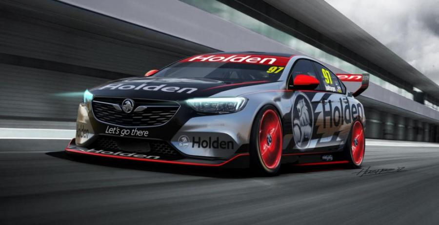 Holden показала первые изображения нового гоночного Commodore V8 Supercar