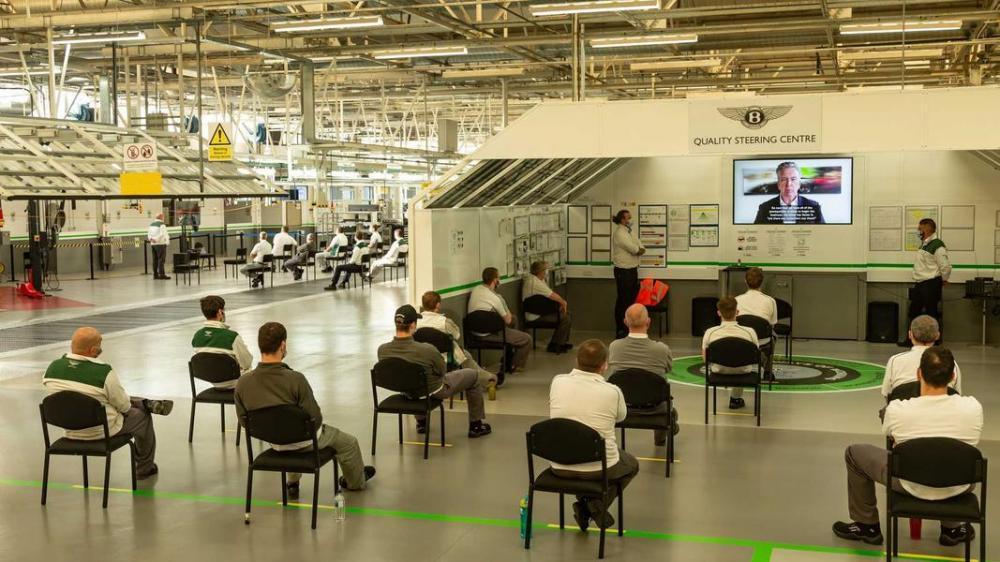 Bentley возобновила производство по новым правилам