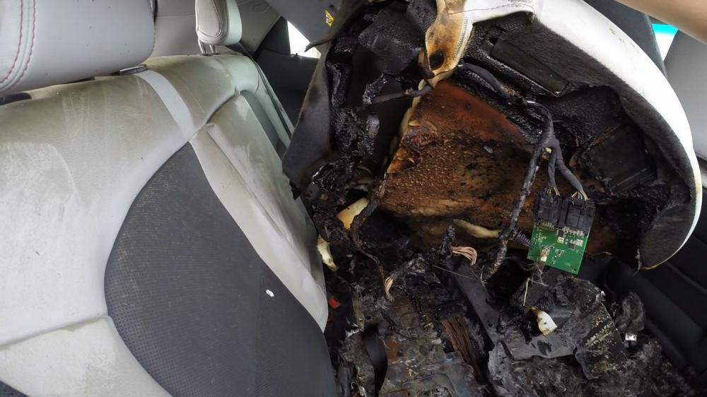 Chevrolet Bolt сгорел