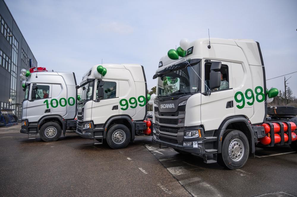 1000-й газовый автомобиль Scania