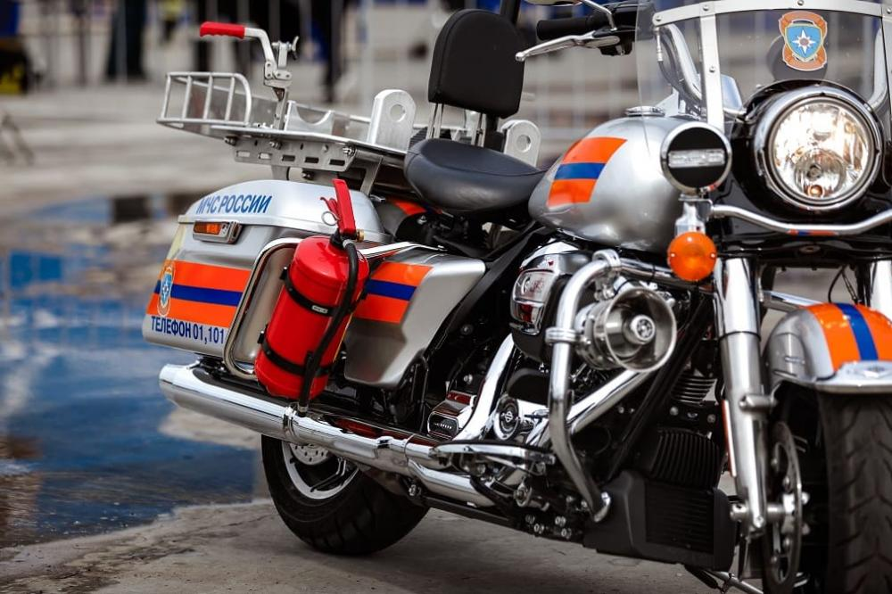 У МЧС Road King Police Harley-Davidson