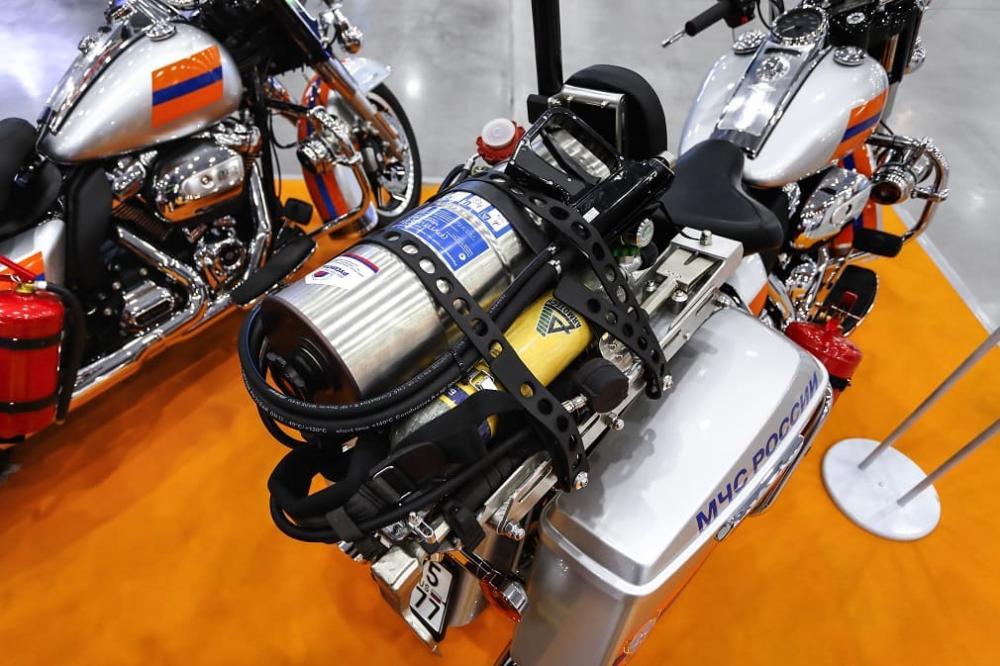 Оснащение мотоцикла Harley-Davidson для МЧС