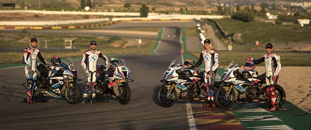 четыре гонщика BMW M 1000 RR