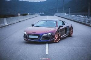Audi R8 V10 Avery Colorflow Series by Impressive Wrap on Savini Wheels (BM13)