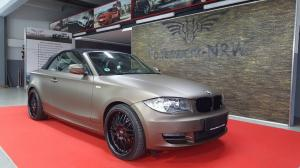 BMW 1-Series Convertible in Matte Brown Metallic by Folienwerk-NRW
