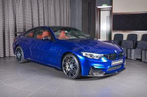 BMW M4 Coupe Individual in San Marino Blue by Abu Dhabi Motors