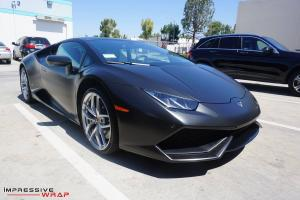 Lamborghini Huracan LP610-4  in Satin Black by Impressive Wrap