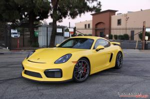 Porsche Cayman GT4 in Yellow by Impressive Wrap