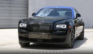 Rolls-Royce Ghost Gloss Dark Blue Top by MetroWrapz