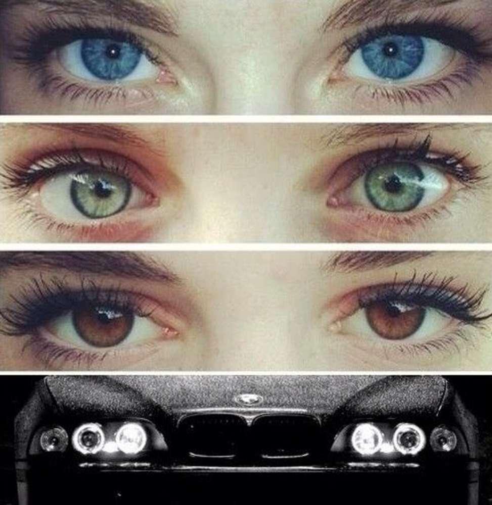 Как сделать зеленые глаза если у тебя зелено карие